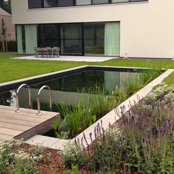 Tuin met zwemvijver en padoek terras / Mariakerke