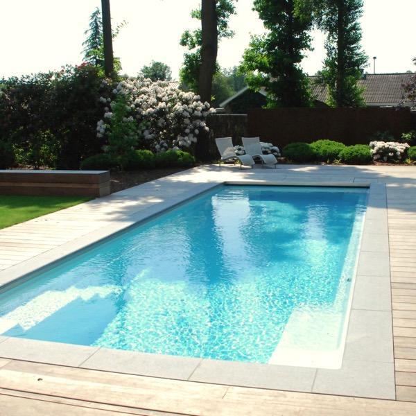 Zwembad en poolhouse geniet van pure luxe de telder tuinen for Afmetingen zwembad tuin