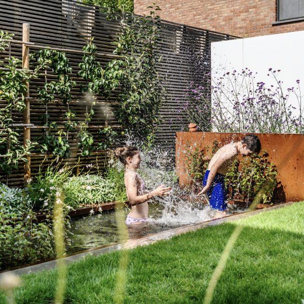 Wellness tuin met zitvijver / Gent
