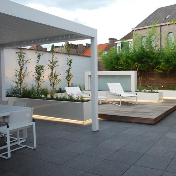 Lounge dakterras met sfeerverlichting  / Gent